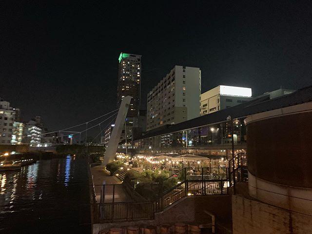 水の都、大阪今日は食事会てなんばまで。久しぶりに来たけれど川辺は涼しげですね。 夜景も綺麗#アニマルコミュニケーターsachiko#水の都 (Instagram)